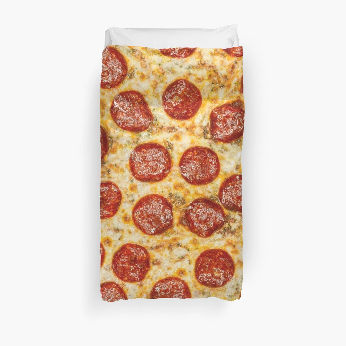 Pepperoni Pizza Duvet Cover / Comforter. Now I want to get sheet set and dust ruffles like crust!