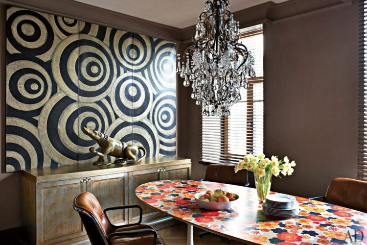 kreative Wandgestaltung Esszimmer Deko Ideen Wanddekoration