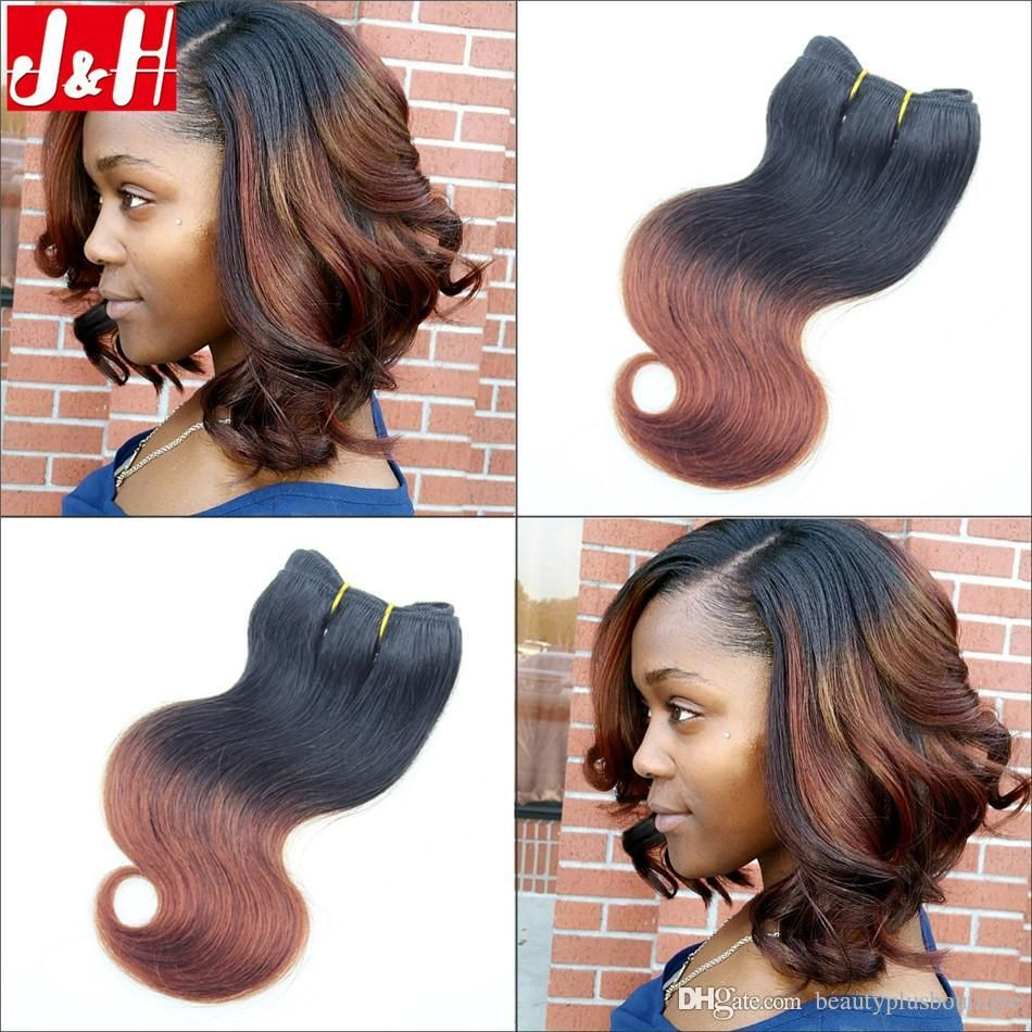 300g Full Head 8a Brazilian Ombre Hair Extensions Body Wave 1b33