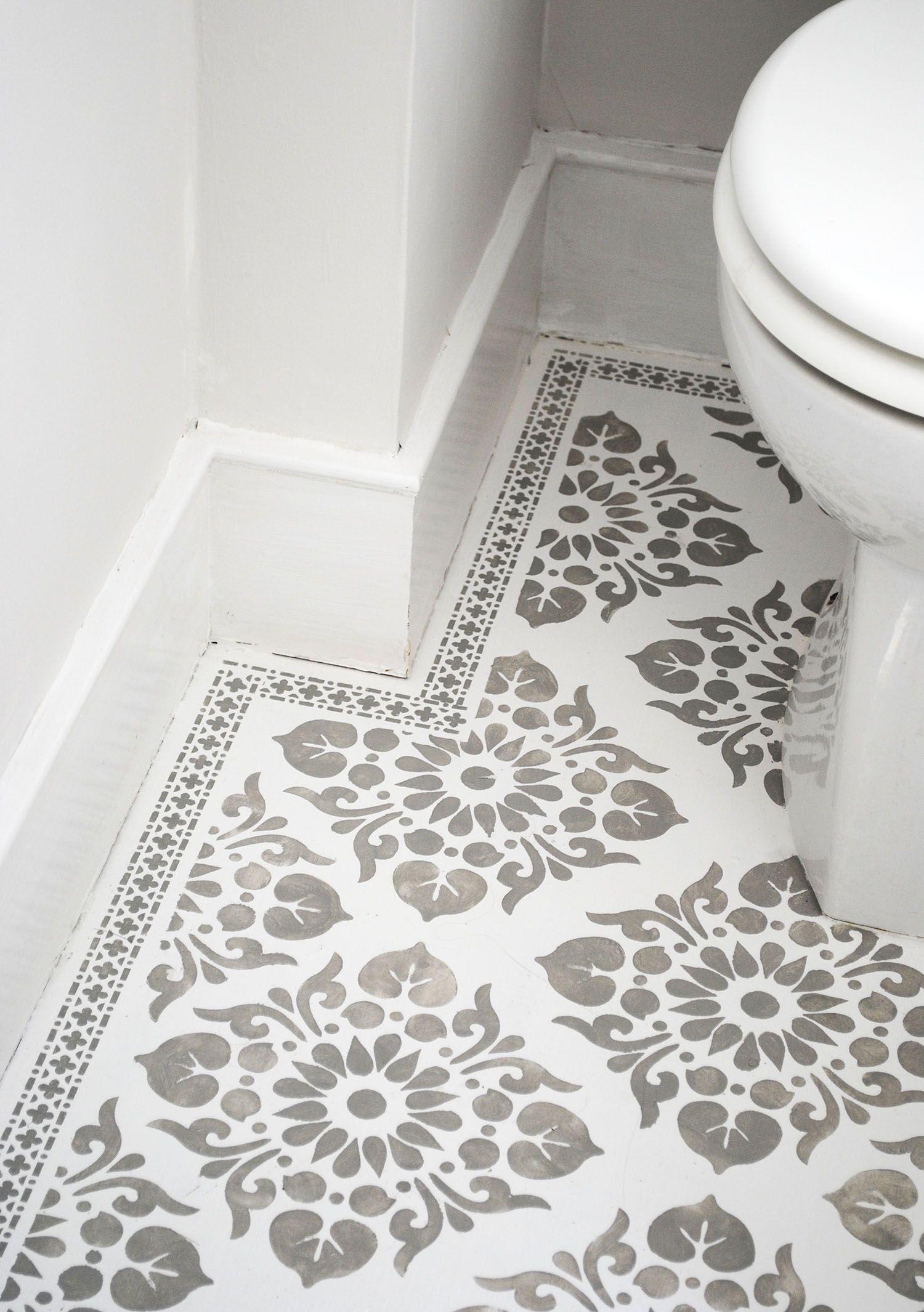Beautiful stencilled floor by Nicolette Tabram using her own ...