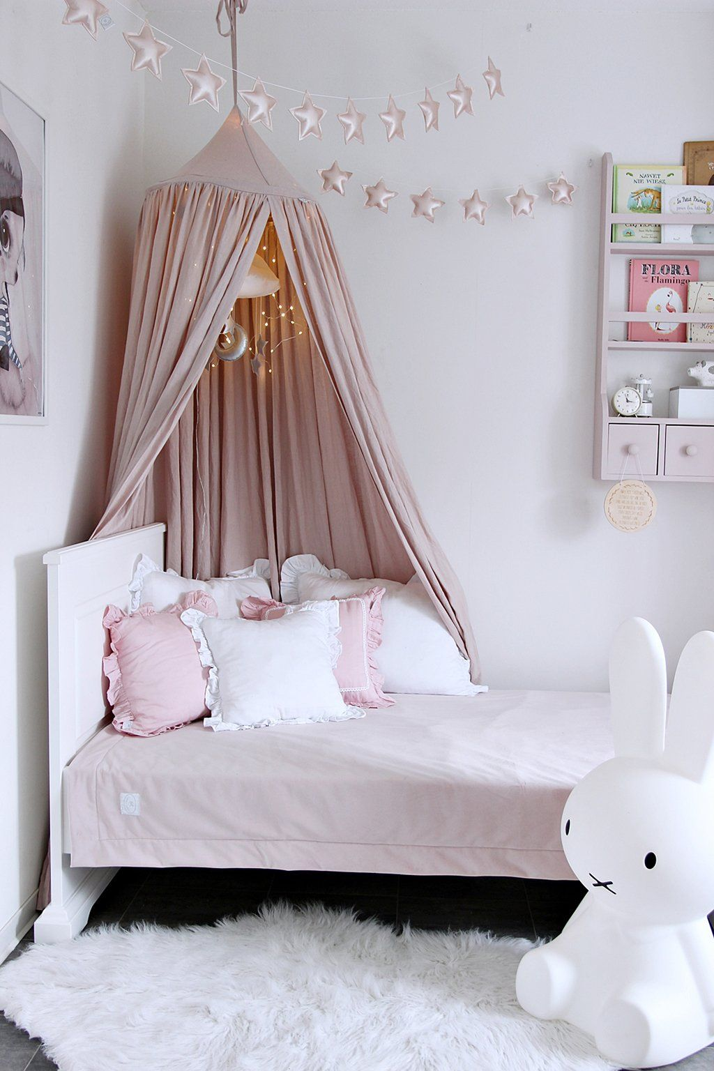 Linen Canopy - Power Pink u2013 Is To Me & Linen Canopy - Power Pink u2013 Is To Me | room for my little princess ...