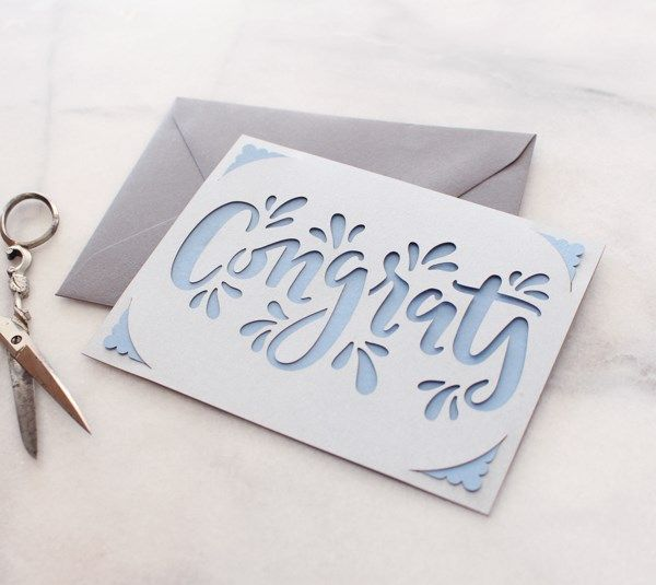 This Easy To Assemble Card Is A Fun Way To Send Your Congratulations Congrats Card Greeting Card Inspiration Congratulations Card