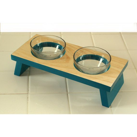 Designer Pet Food Bowl Small Dog Or Cat And Water Dish Gl Elevated