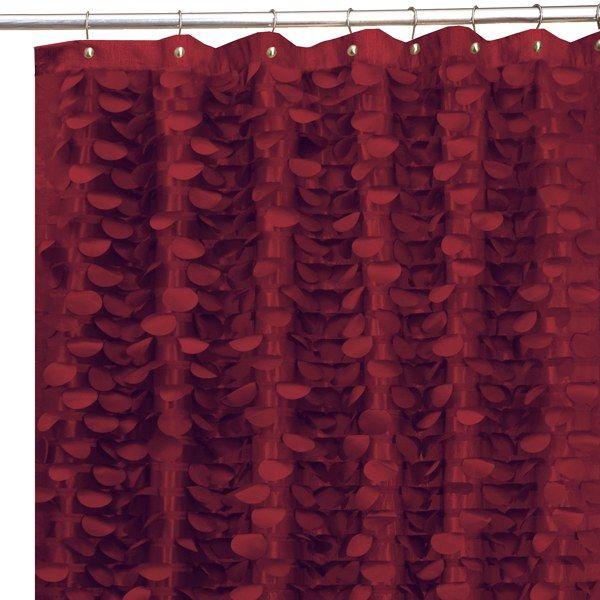 Great Gigi Burgundy 72 X 72 Fabric Shower Curtain   Bed Bath U0026 Beyond