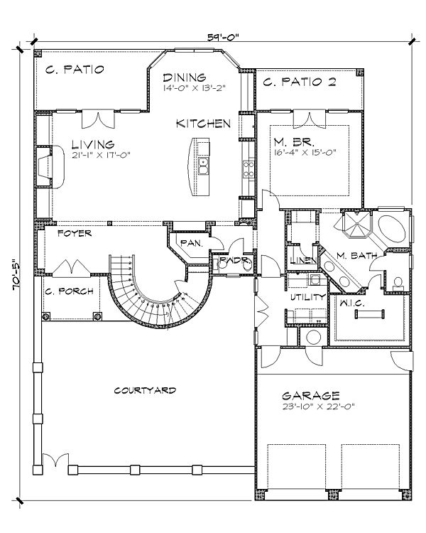 Pin By Mary Cler On شاليهات In 2020 Floor Plans House Plans Courtyard House Plans