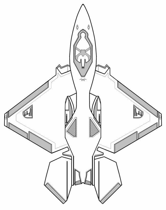 Futuristic Fighter Plane Sketch