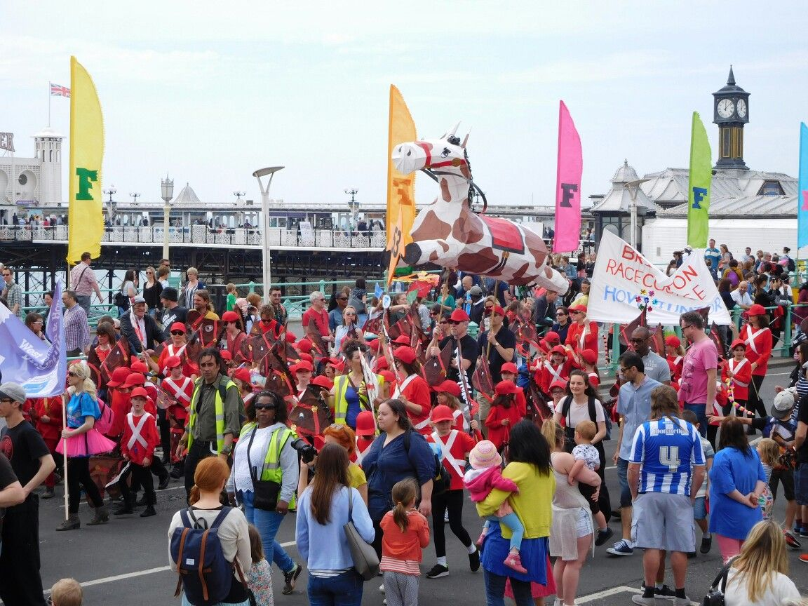 Brighton racecourse at childrens parade at brighton