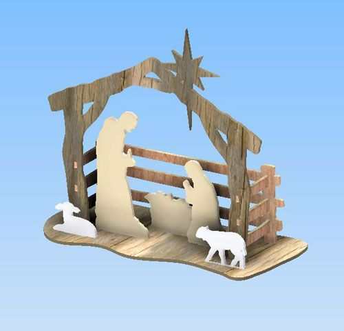 On Sale Now!  Simple Nativity Scene  This project would work Great for Yard Art or Table Top.  Comes in both metric and imperial scales    Click for more details and information.