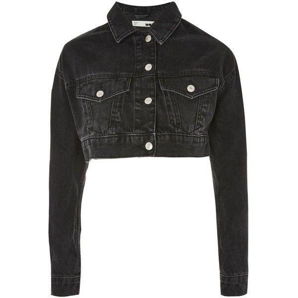 Topshop Moto Shrunken Cropped Denim Jacket 350 Zar Liked On Polyvore Featuring Outerwear Jackets Topshop Wa Topshop Jacket Crop Jean Jacket Denim Jacket