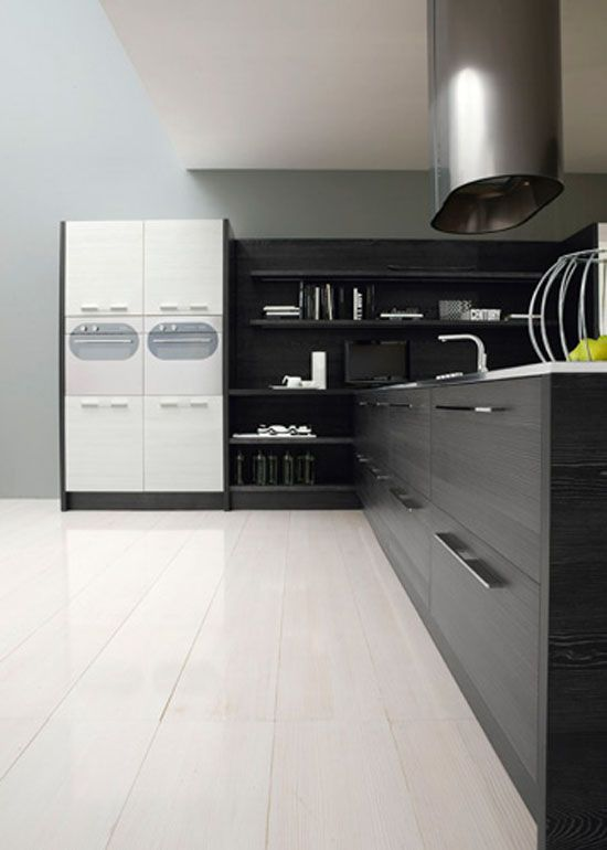 Exceptional Contemporary Black And White Kitchen   Asia By Futura Cucine   DigsDigs Great Pictures
