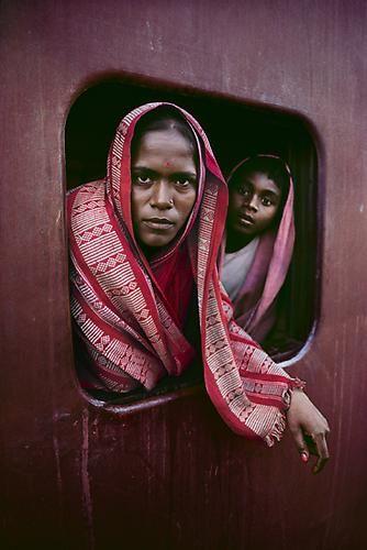 Steve McCurry, Women in Train Window, 1982, C-type print on Fuji Crystal Archive paper