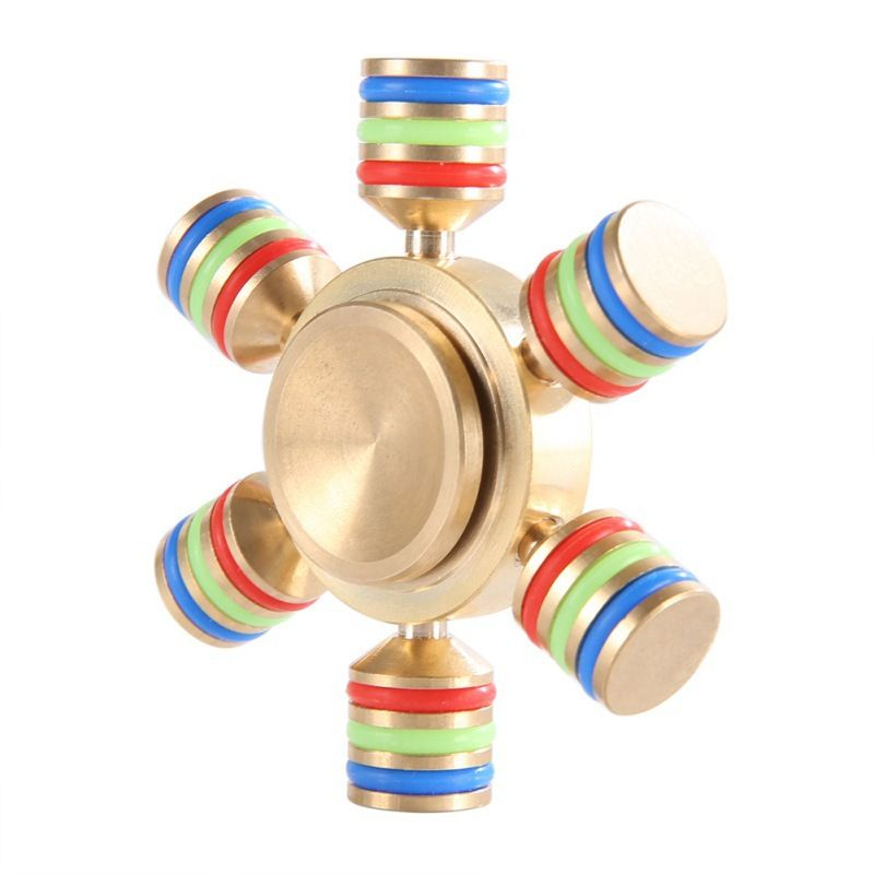 Superior New Rainbow Fidget Spinner Finger Spinner Metal DIY Hand Spinner Brass  Spiner With Box For Autism