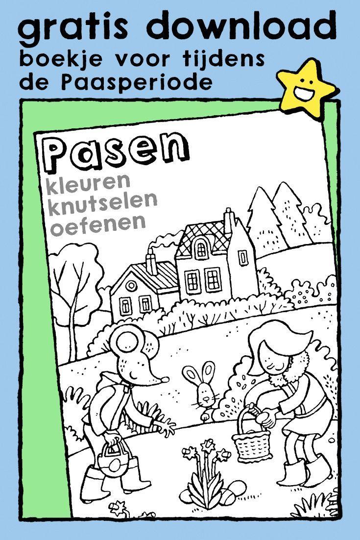 Pasen Kleuren Knutselen En Oefenen Kiddikleurprenten Kiddikleurplaten In 2021 Kleuren Knutselen Pasen