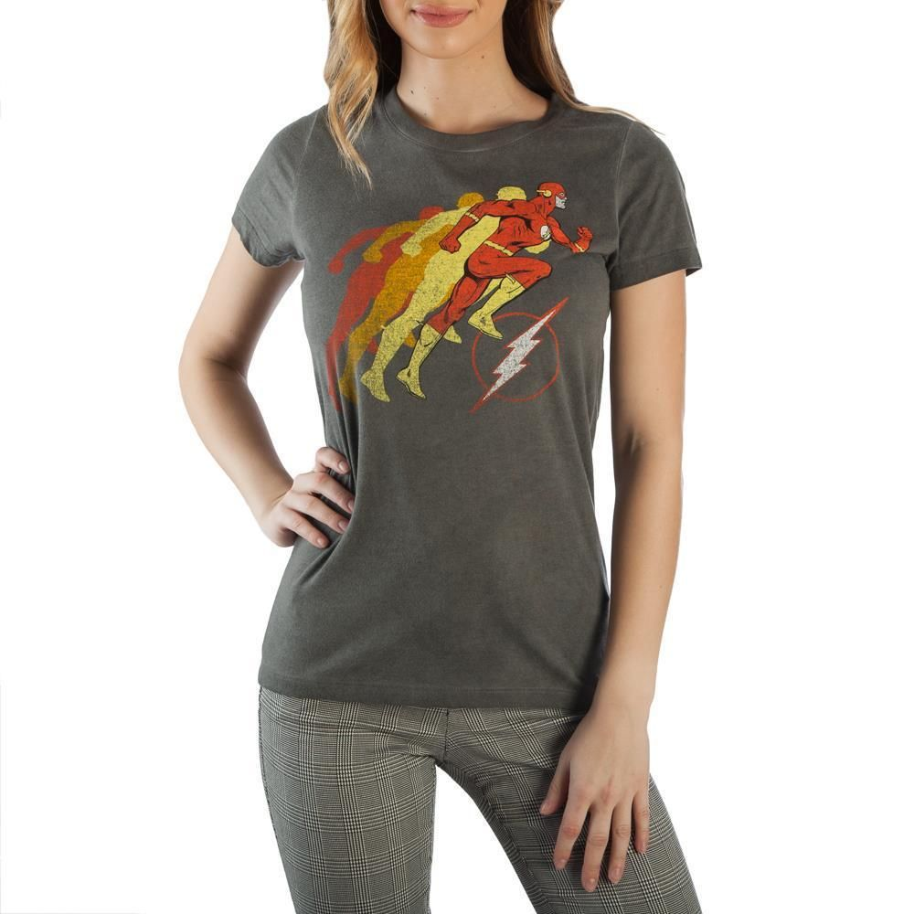 DC Comics Mens Flash Circle Ringer T-Shirt