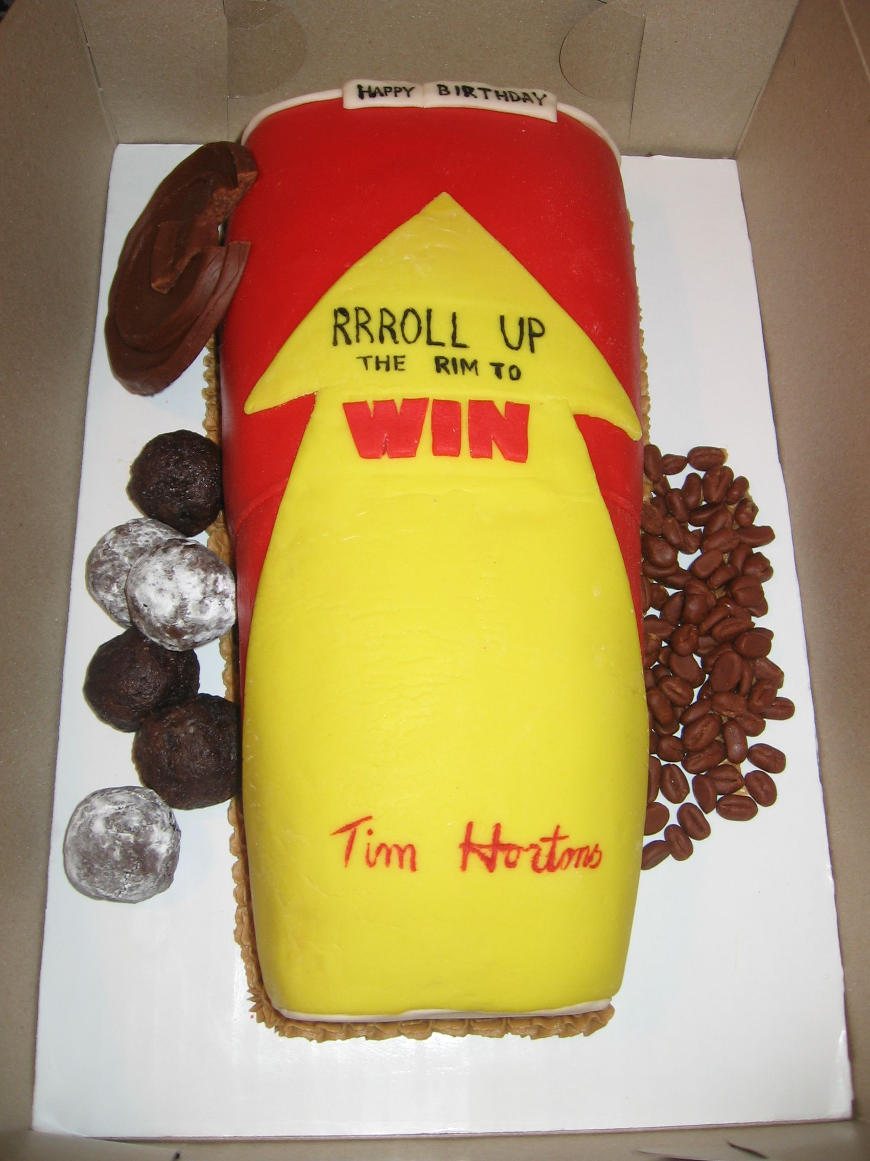 Tim Hortons Birthday Cake Everything Is Edible Including Our
