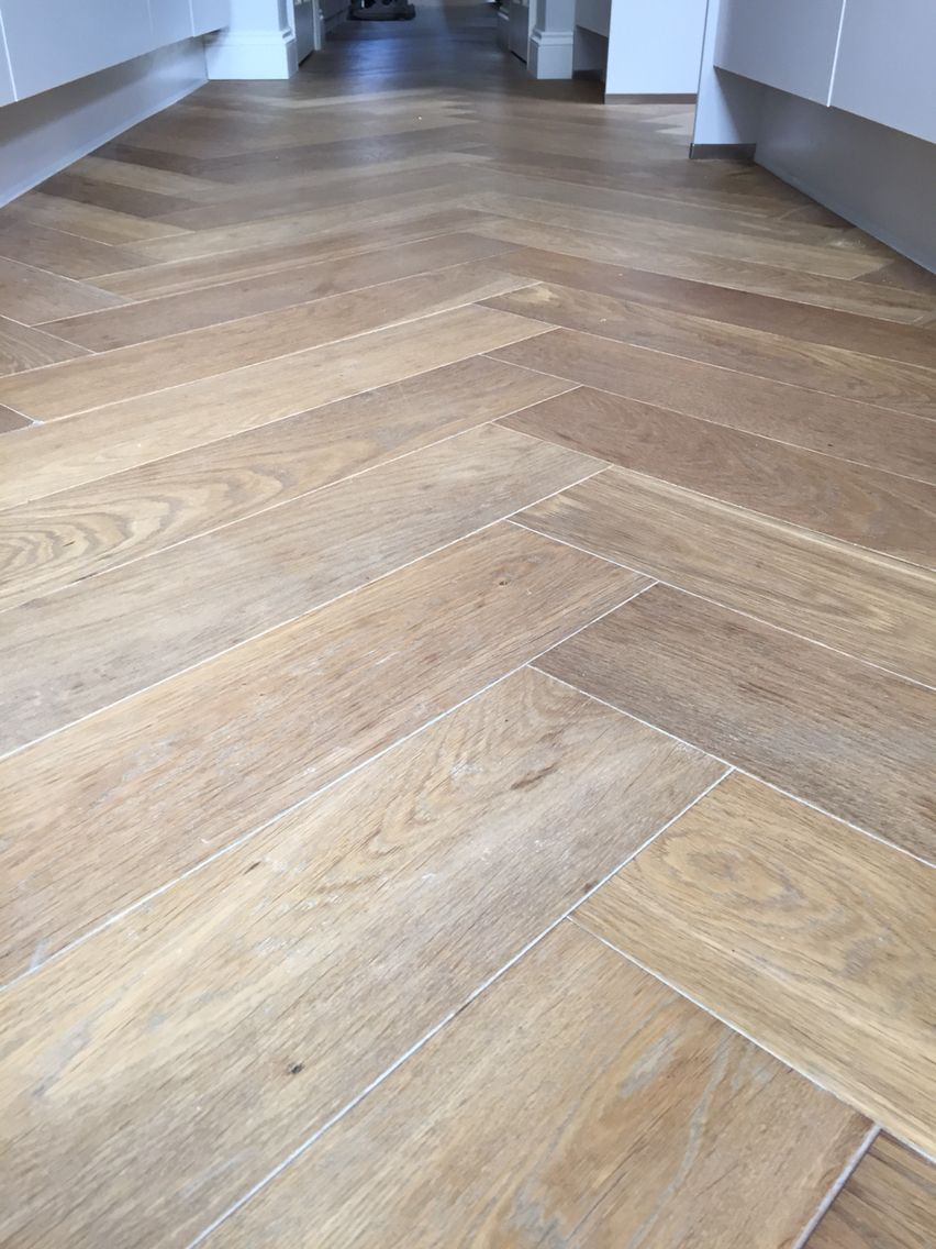Oak herringbone Luxury vinyl plank flooring, Classic