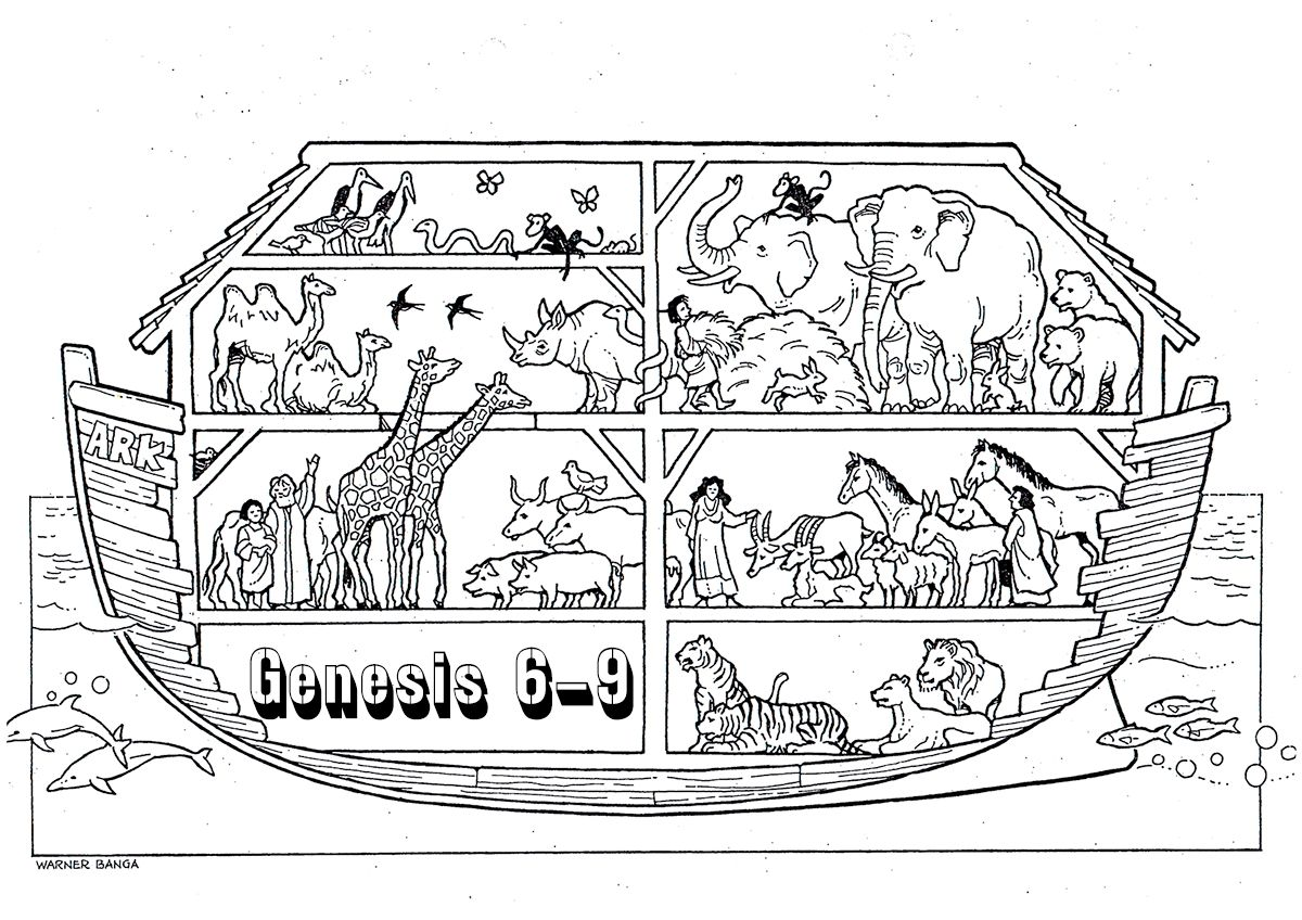 Free Coloring Page Noah S Ark on a budget