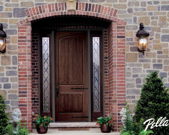 Therma tru doors not sure about all the hardware on the for Mediterranean style front doors