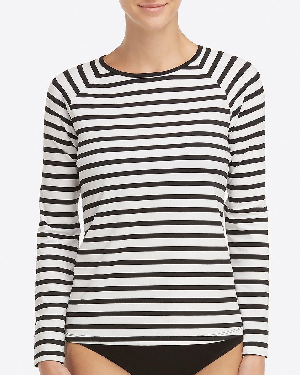 03e755634faa4 Long Sleeve Swim Shirt in 2019 | Products | Spanx, Long sleeve, Sleeves