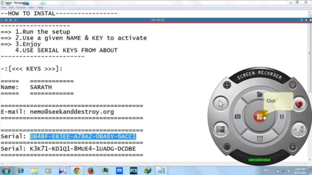 zd soft screen recorder 5 key