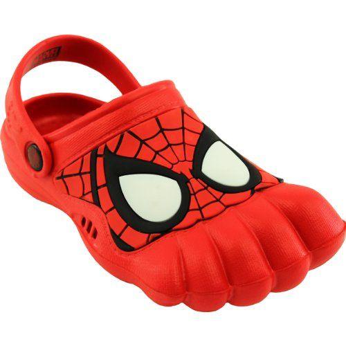 Spider-Man Kids Red Silly Feet Clogs