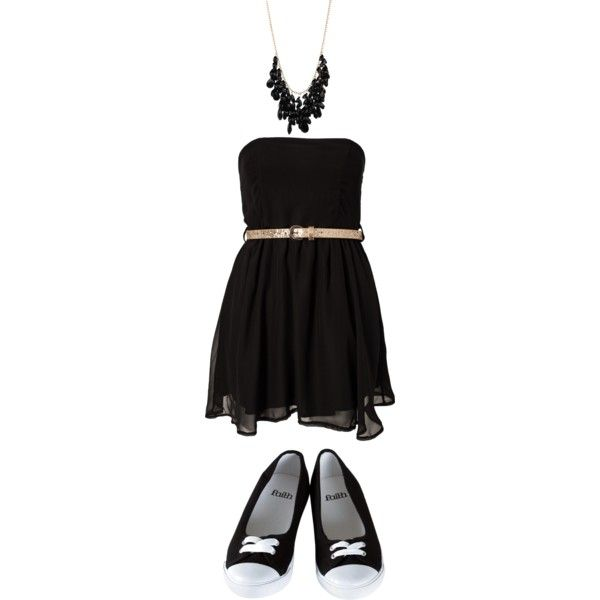 Black by dont-say-goodnight on Polyvore featuring Club L and Lori's Shoes