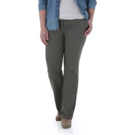 a5222680 Riders by Lee Women's Fleece Lined Pant, Size: 10P, Green   Products ...