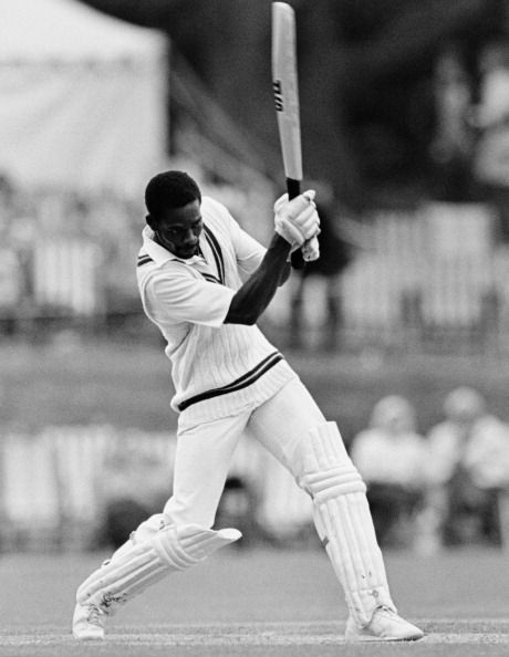 Collis King batting for the West Indies circa 1980