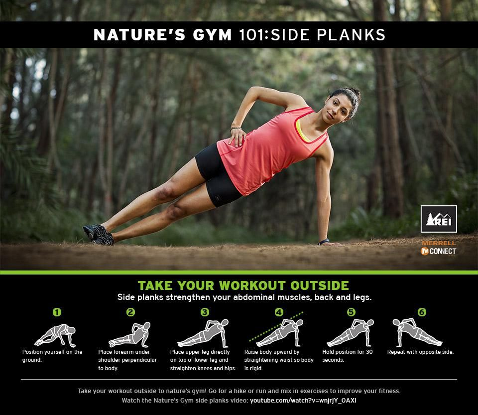 Nature's Gym 101: Side Planks