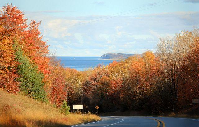 M22 Highway Northern Michigan Looking At North Manitou Island Fall In Michigan Michigan Travel Pure Michigan