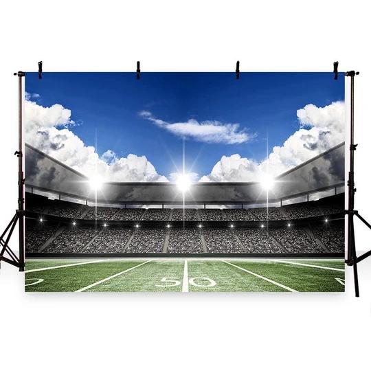 Football Field Green Lawn Spotlight Backdrops For Party G 260 Green Backdrops Backdrops Backdrops For Parties