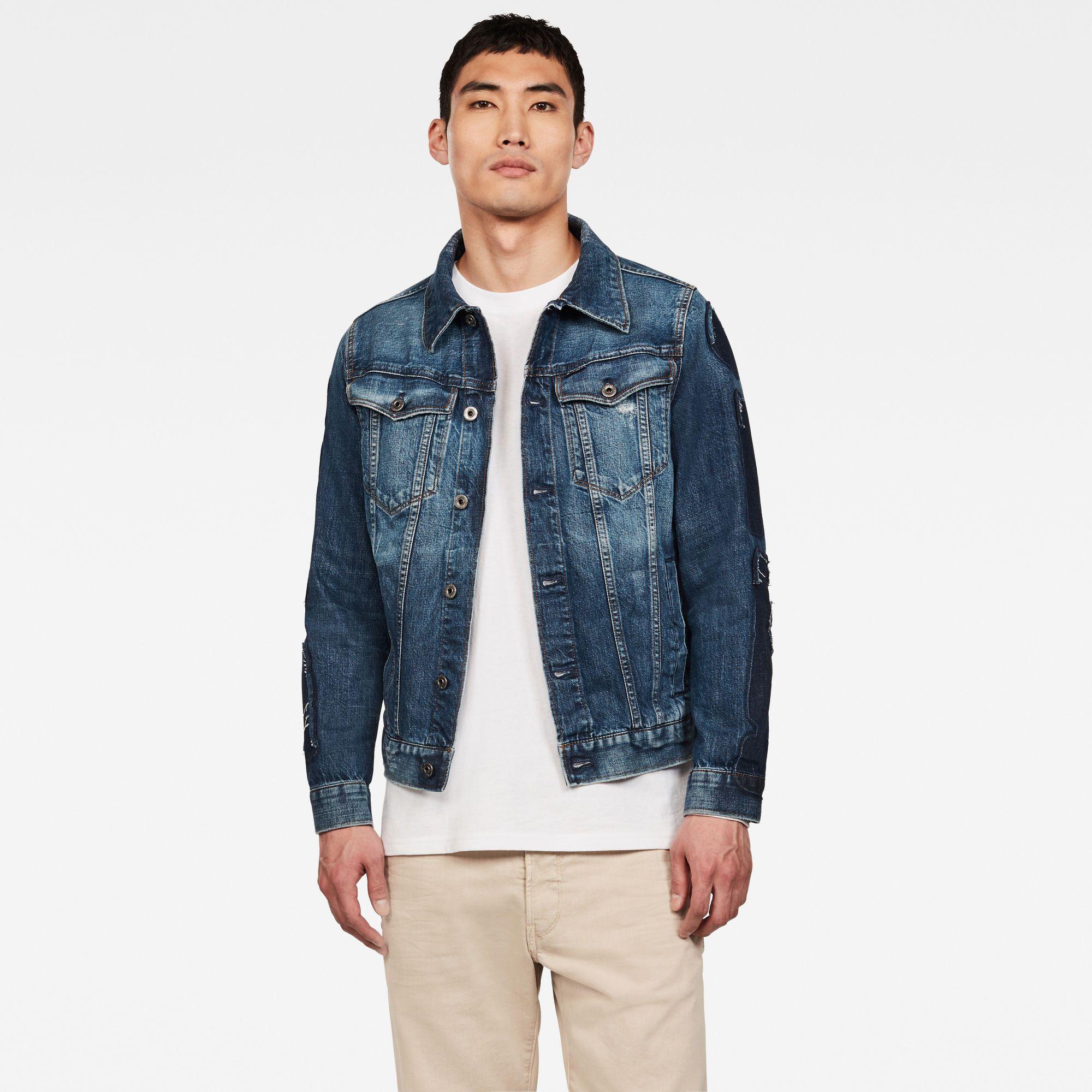 3301 Badges Slim Jacket Medium Aged Badges G Star Raw In 2021 G Star Denim Fashion Denim Fabric