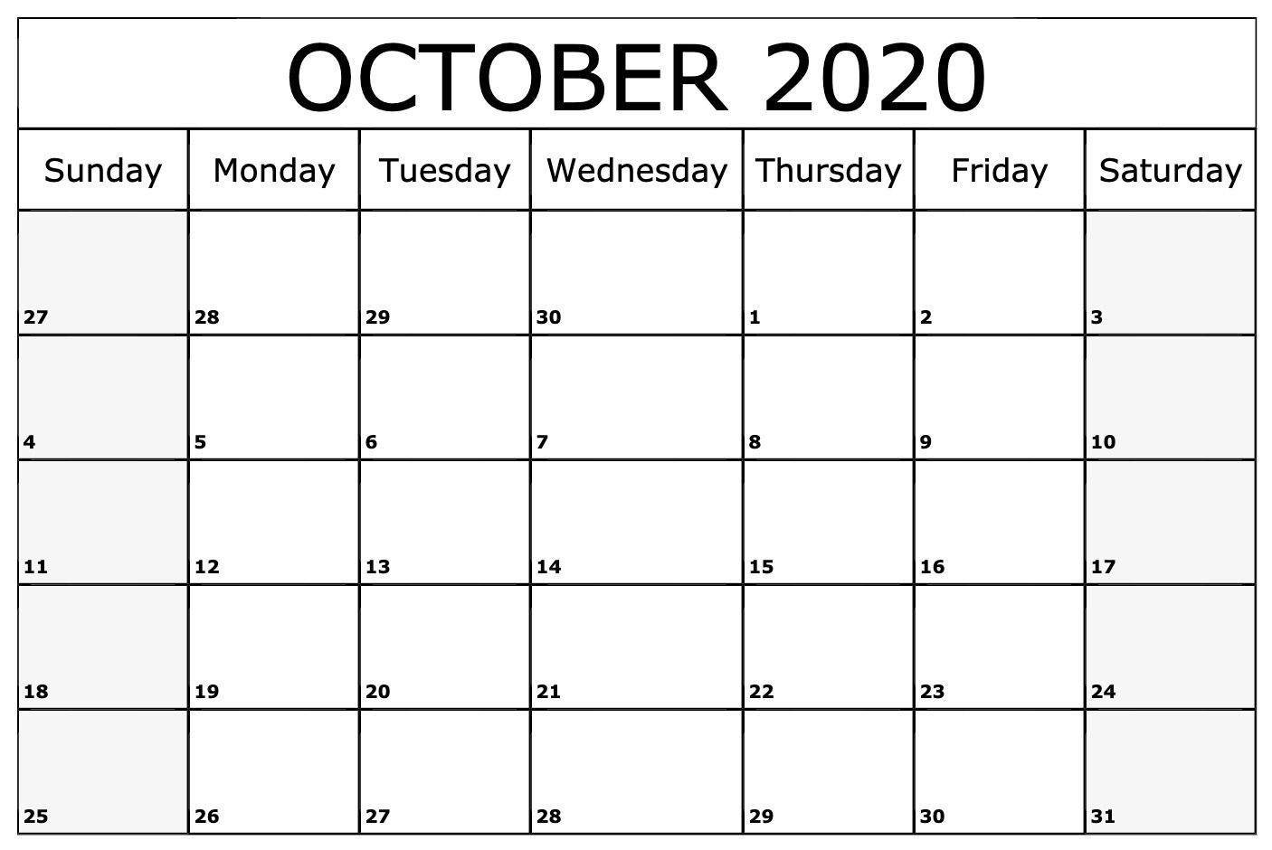 Most Recent Images October 2020 Calendar Thoughts A Custom Made Schedules Are Meant To Give In 2020 Monthly Calendar Printable October Calendar Printable Calendar Word