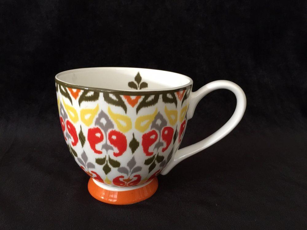 Portobello By Inspire Fine Bone China Paisley Pattern Coffee Cup Mug