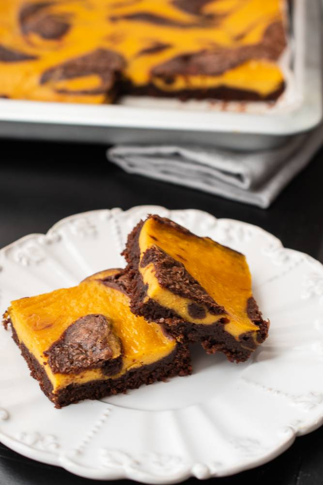 Brownie cheesecake cu dovleac Recipe (With images