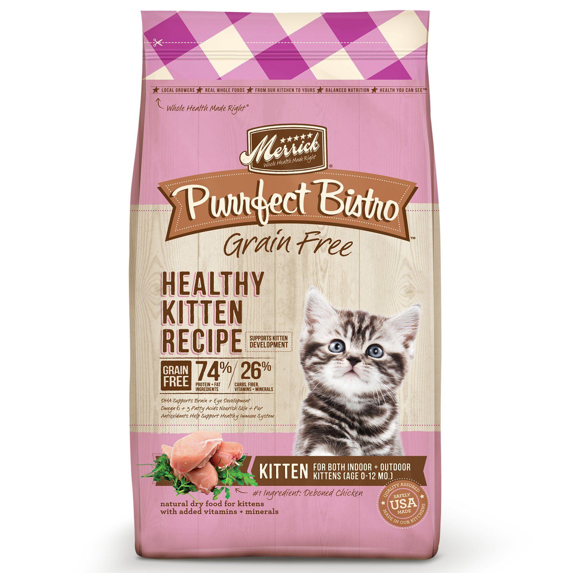 Merrick Purrfect Bistro Grain Free Healthy Kitten Dry Food 4 Lbs Kitten Food Dry Cat Food Free Cat Food