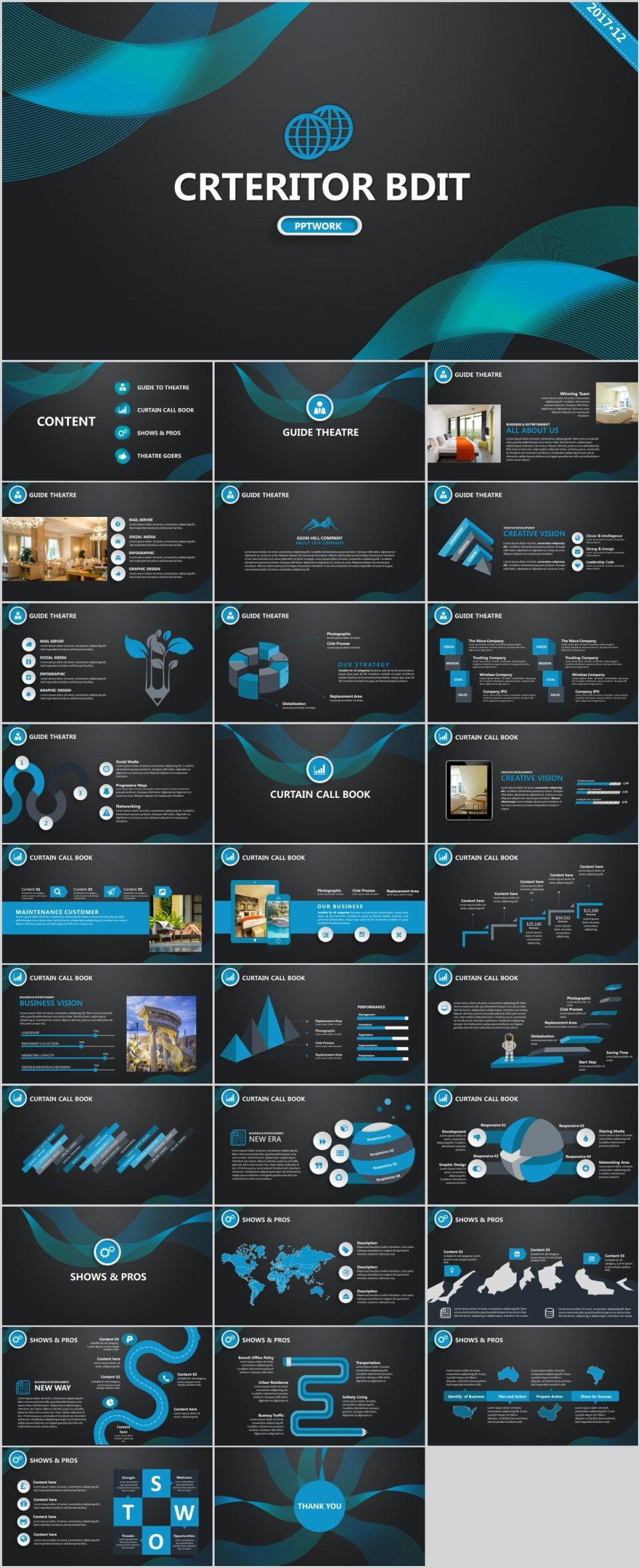30+ Blue creative charts report PowerPoint Template | Template ...