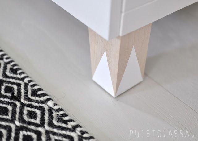 Customiser pieds de meubles