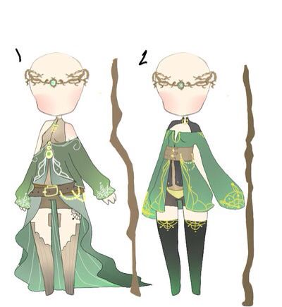 Anime green outfit