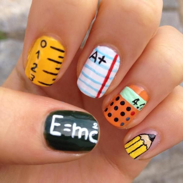 37 Super Cute Back To School Nail Art Designs | Pinterest | School ...