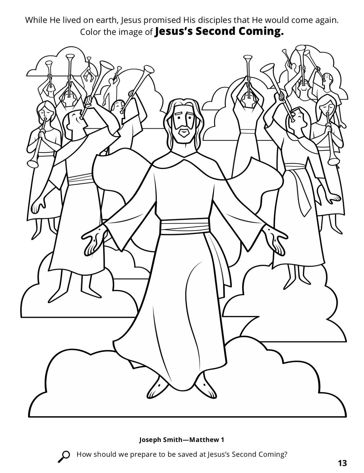 Related Image Jesus Second Coming Coloring Pages Christian Coloring [ 1600 x 1232 Pixel ]