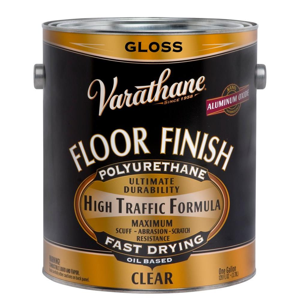 Rust Oleum 1 Gal Clear Gloss Oil Based Floor Finish Polyurethane 2 Pack 130031 The Home Depot Floor Finishes Polyurethane Floors It Is Finished