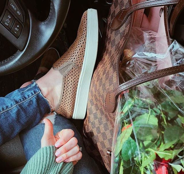 725472c3b5c4 SOMERS II in Plover Grey. Treat yourself to some flowers and comfy shoes!  Thanks to Kelsey Lynn Barlow for the great photo!