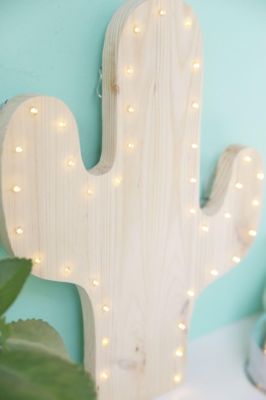 DIY: Kaktus Lampe mit LEDs selbermachen   Cactus lamp, Lamp