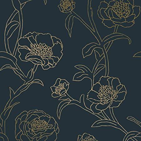 Nuwallpaper Nu3035 Peachy Keen Pink Peel Stick Wallpaper Amazon Com Nuwallpaper Peel And Stick Wallpaper Vintage Floral Wallpapers