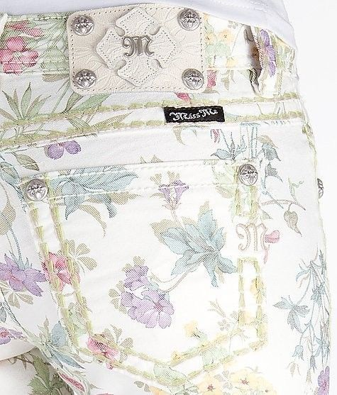 ebec042a2f6 NWT Miss Me Floral Cargo Womens Ankle skinny pants in Botanical Garden  CP4025AK1  MissMe  AnkleSkinny