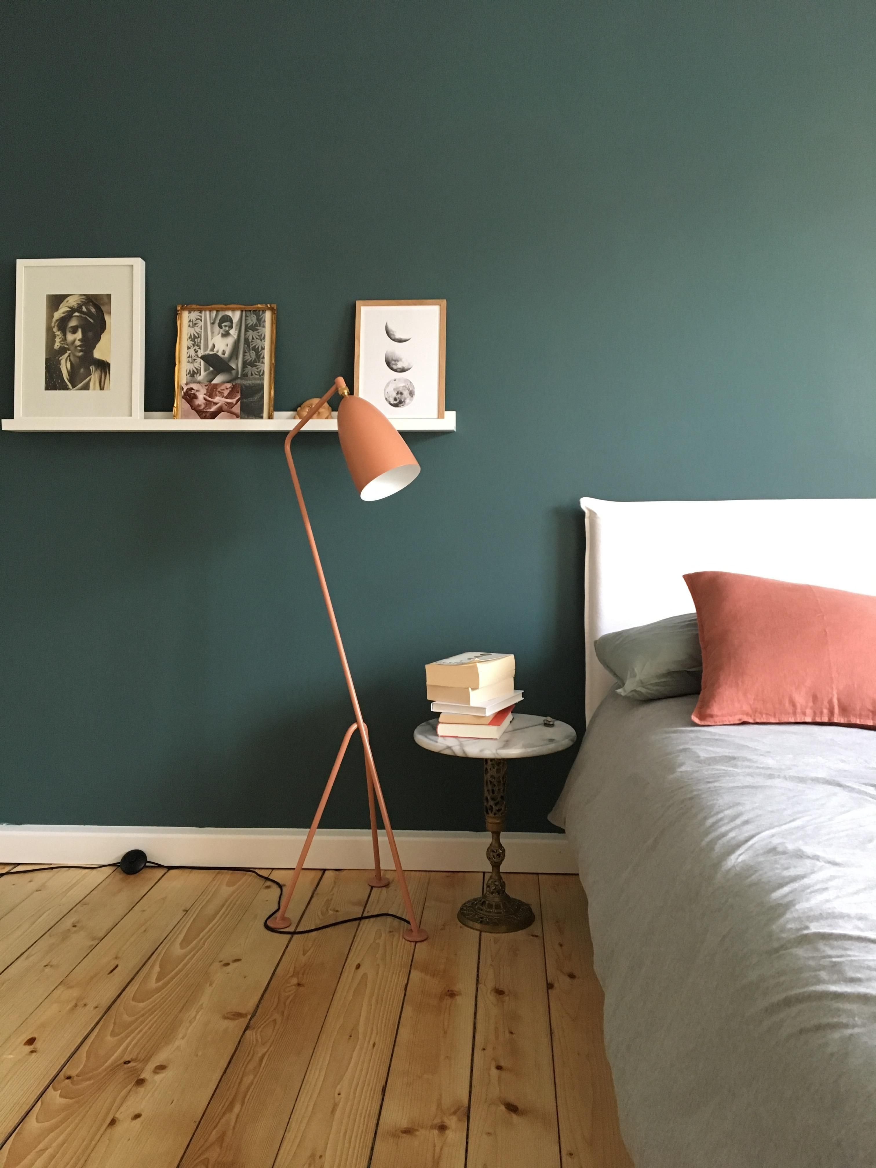 Schlafzimmer gr neliebe vintage boho inte farben for Grune wandfarbe schlafzimmer