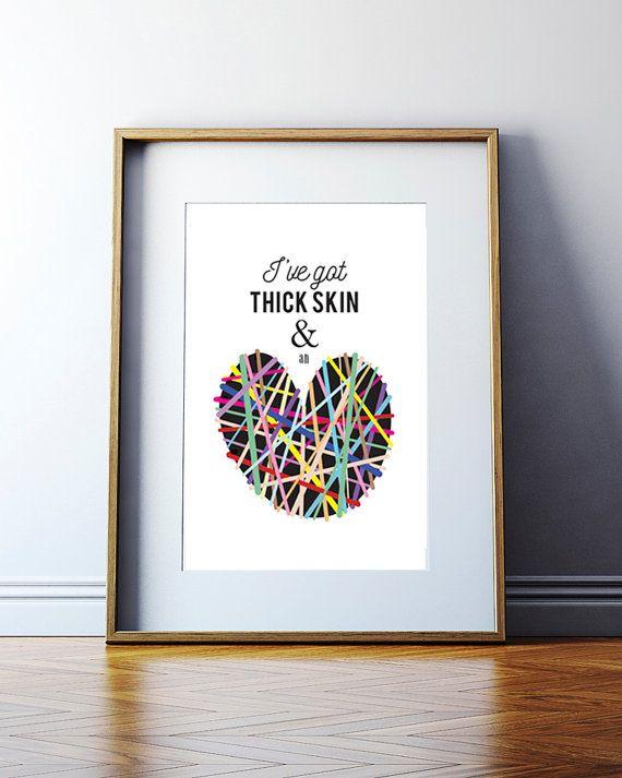 Sia Elastic Heart Lyric Print music lyric by pegausaurus on Etsy ...