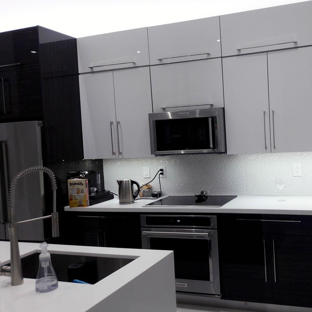 Black Kitchen Cabinets Miami In 2020 Black Kitchen Cabinets Custom Kitchen Cabinets Kitchen Cabinets