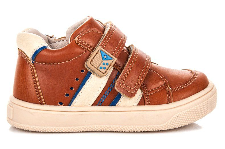 Buty Sportowe Dzieciece Dla Dzieci Americanclub Brazowe Buciki Na Rzepy American Club Top Sneakers Baby Shoes Shoes